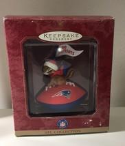 Hallmark Ornament NFL Football New England Patriots 1999 Fan with Pennan... - $19.35