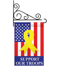 Support Our Troops - Applique Decorative Metal Fansy Wall Bracket Garden... - $33.97