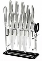 Super Sharp!!! 14 Piece Stainless Steel Kitchen Knife Block Set - 8 Chef... - $117.31