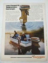 1974 Johnson Outboards Fishing Boat Fishermen Original Print Ad Advertis... - $16.81