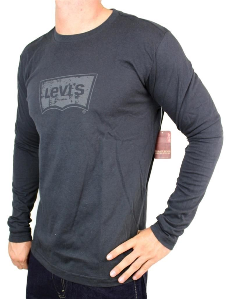 NEW LEVI'S MEN'S PREMIUM CLASSIC GRAPHIC COTTON LONG SLEEVE T-SHIRT SHIRT TEE
