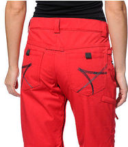 686 Mannual Patron Snowboard Pants Womens 10k Insulated Red S image 5