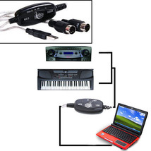 MIDI USB Cable Converter PC to Music Keyboard Adapter - $9.37