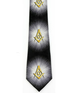 New Masons Shining Light Mens Necktie Compass Square Mason Freemason Nec... - $15.79