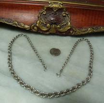 "Vintage Sterling Silver Graduated Weave 20.1"" Necklace  - €34,85 EUR"