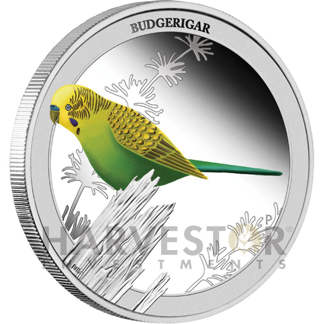 Primary image for 2013 BIRDS OF AUSTRALIA SERIES – BUDGERIGAR 1/2 OZ. PROOF COIN – COIN #2