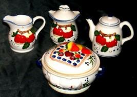 Ceramic Creamer, Lid Sugar, Lid Pitcher and Lid Bowl AA20-2248 Vintage Collectib