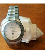 Fossil Blue AM-3301 Silver Bracelet Womans Watch All Stainless Steel WR1... - $18.81