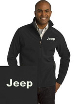 Jeep Black Embroidered Port Authority Core Soft Shell Unisex Jacket NEW - $39.99