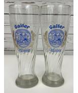 SET OF 2 Sailer Weisse Swirled Design Tall Beer Glass 0.5L German Rastal... - $44.44