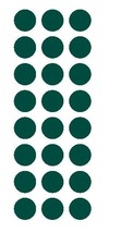 """DARK GREEN 1"""" Round Stickers Color Code Inventory Label Dot Package Seals - $1.49+"""