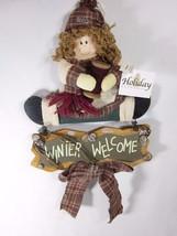 Colgante Navidad Invierno Welcome Señal por Holiday Elegance Madera - $11.47