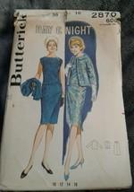 Vtg BUTTERICK 2870 Day & Night Skirt Blouse Jacket Size 16 Bust 36 UNCUT - $14.01