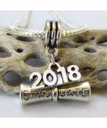 Graduation Diploma 2018 European Pendant Charm For Large Hole Charm Brac... - $16.00