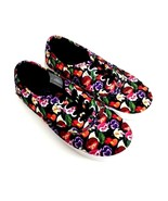 Disney Alice in Wonderland Womens Size 6 Pansy Flower Canvas Sneakers Bl... - $19.79