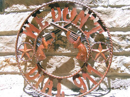 Plasma Metal Art Iron Cutout We Don't Dial 911 Sign 22 inches - $124.98