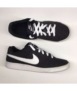 Nike Womens Size 8.5 Court Royale Black White Leather Shoes Athletic 749... - $20.51