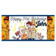 Drums With Fans Birthday Banner Party Decoration Backdrop - $22.28+