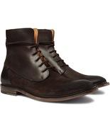 Men's fashion brown Leather Boots Men Designer Leather Suede boots, Form... - $179.97+