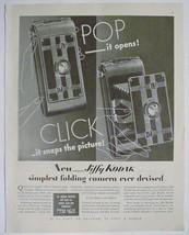 1933 Print Ad JIFFY KODAK Camera quick and simple vintage advtg - $7.95