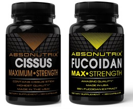Absonutrix Cissus Xtreme joint pain + Absonutrix Fucoidan antioxidant immunity - $38.99