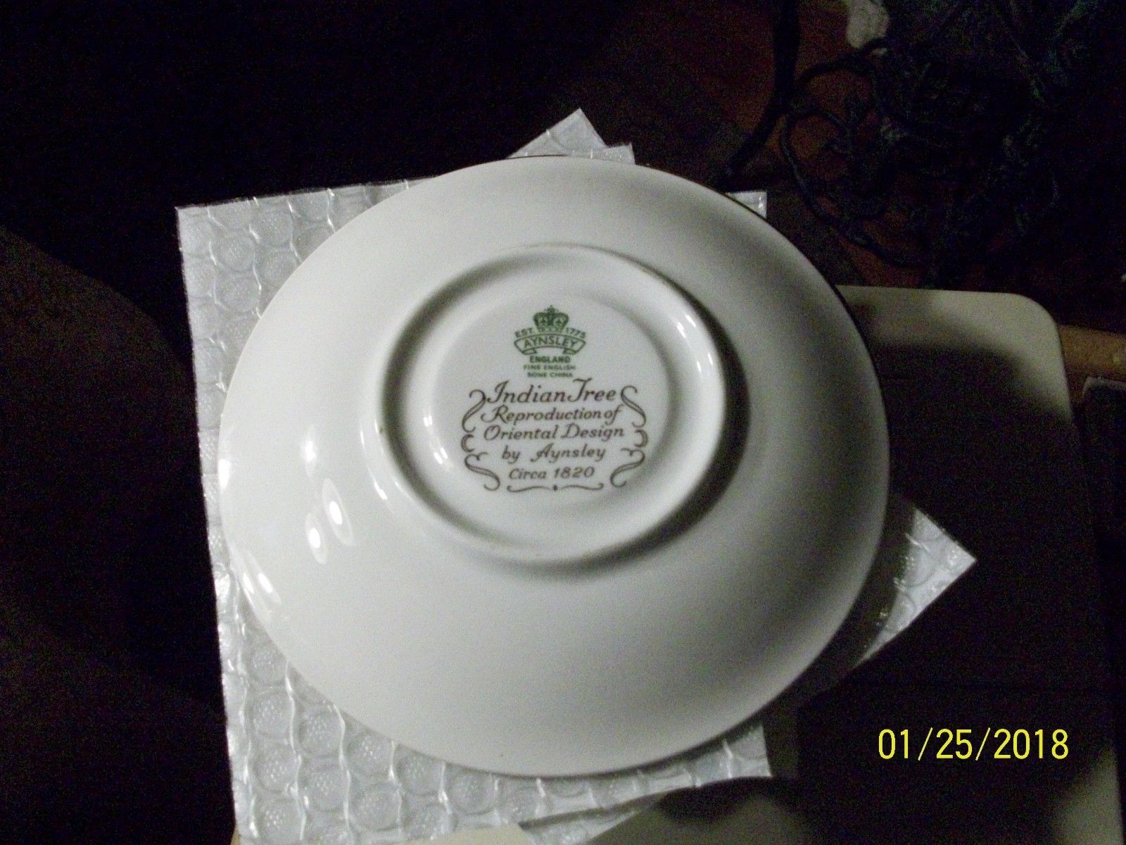 10#    Vintage Aynsley Ind. Tree Plate/Saucer Bone China England Pre-owned