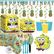 Deluxe Spongebob Squarepants Birthday Party Supplies Pack - $61.88