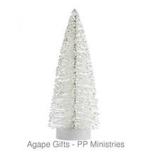 Darice Bottle Brush Tabletop Sisal Tree on Wood Base - White Glitter 8 inch - $10.95