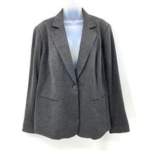 41Hawthorn Grey Single Button Long Sleeve Blazer Jacket Rayon Size 2X - $37.05