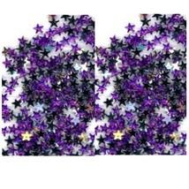 100 Rhinestones  PURPLE new lots Arts Crafts STARS - $4.75