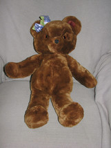 "1984 Dakin Bonnie Beth 21"" Teddy Bear Stuffed Plush Toy Animal Chocolate Brown - $31.67"