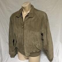 VTG Polo Ralph Lauren Suede Leather Jacket Plaid Lined Coat Bomber Medium - $89.99