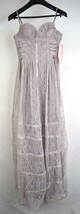 Betsey Johnson Cocktail Summer Dress Taupe Lace Prom Party Bustier Long 10 NWT - $98.94