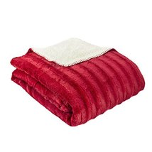 zry_dlifa Red Oversized Super Soft Plush Fleece Throw with Sherpa Back 6... - $59.40