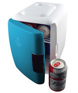 Electric Cooler Warmer Portable Home Office Dorm Beverage Soda Blue Mini... - £45.11 GBP