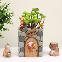 Cartoon Resin Flower Pot Succulent Plants Pot Otter House Planter Home G... - $27.49