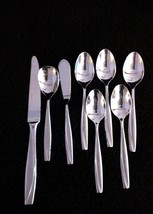 Lot 8 Pcs Oneida Stainless CAMLYN Frosted Handle Teaspoons Knife Sugar B... - $24.95