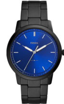 Fossil Mens The Minimalist - FS5308 Black Stainless With Blue Face  - $124.95
