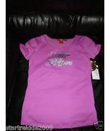 Apple Bottoms Girls Purpule Foil/Logo Tee, Light Purple Color, Sz Large(... - $14.84