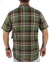 Levi's Men's Classic Plaid Short Sleeve Button Up Shirt Olive 3LDSW062 image 4