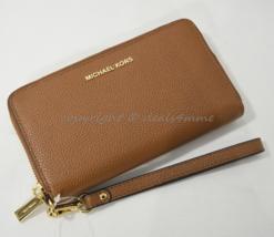 Michael Kors Mercer Large Leather Smartphone Wristlet /Wallet in Luggage... - £109.30 GBP