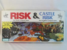 Risk & Castle Risk 1992 Board Game Parker Brothers 100% Complete EUC Bil... - $48.39