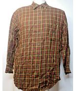 VTG Lauren Ralph Lauren Long Sleeve Shirt Button Up Brown Plaid Sz L RLL... - $24.75