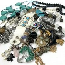 Costume Jewelry LOT Bohemian Boho MOD Vtg to modern tassel blues blacks - $29.65