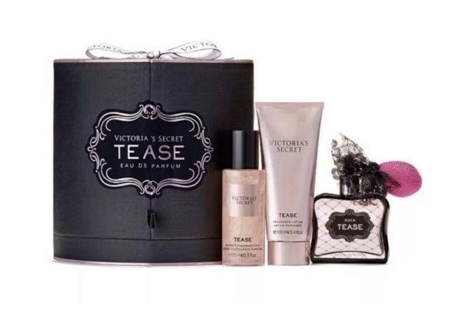 Victoria's Secret NOIR Tease Perfume 3 PC Gift Set 1.7 oz EDP B-Lotion, Mist SPR image 2