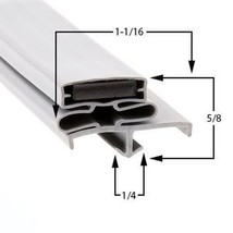 Commercial Refrigeration Gasket Glenco-Star Metal AHFA50R Part# (SP-691-2) - $79.15
