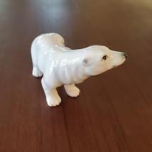 Vintage Polar Bear Figurine, Bone China, Delta Japan Animal Figurine, Bear Decor image 3