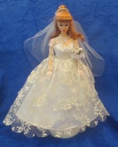 Wedding Day Barbie Francie 1958 Reproduction 1997 Red Pony Tail - $44.54