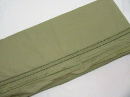 Chaps Chadwick Double Row Crochet Green Egyptian Cotton King Flat Sheet - $56.00