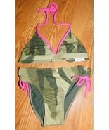 Full Tilt Camo Girls Swimsuit Set Size 14 Brand New